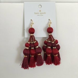 Kate Spade Pretty Poms Tassel Earrings